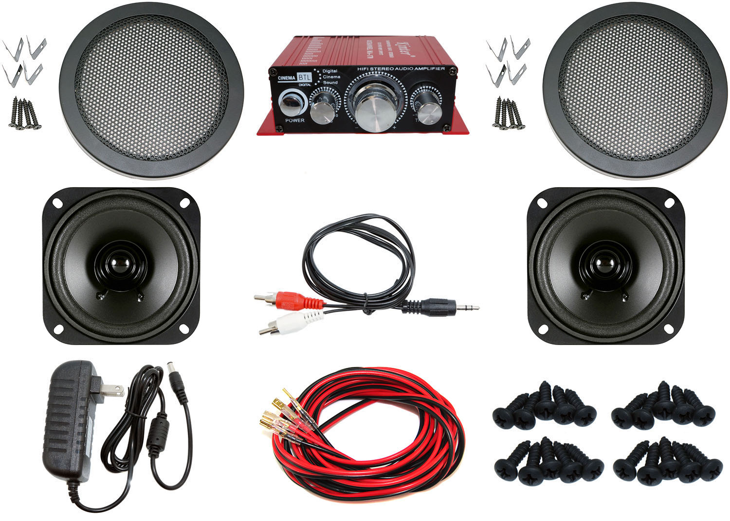 Complete Audio Kit for Arcade Game, MAME Cabinet, or Virtual