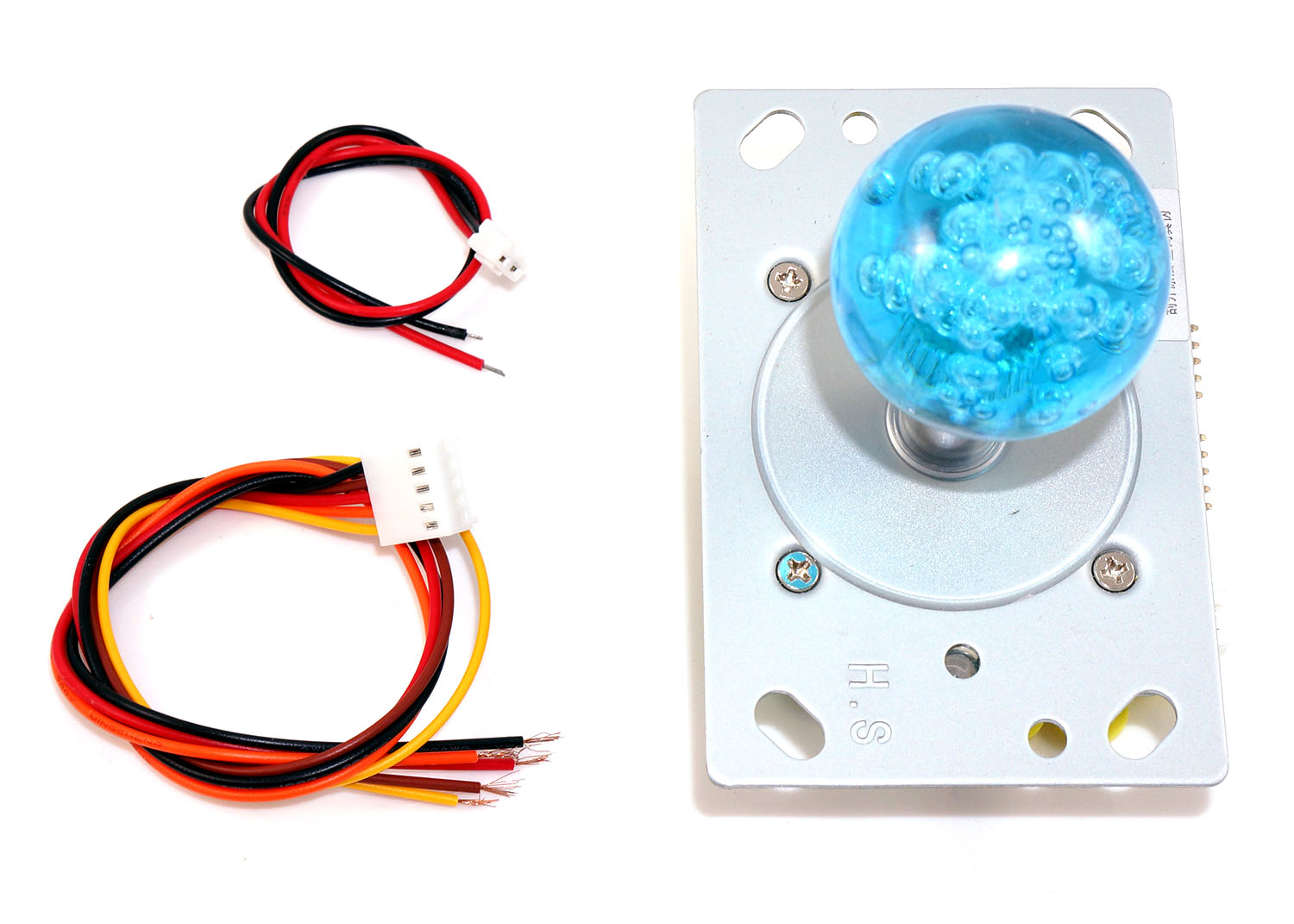 LED Joystick 2-4-8-way with Blue LED Ball Top
