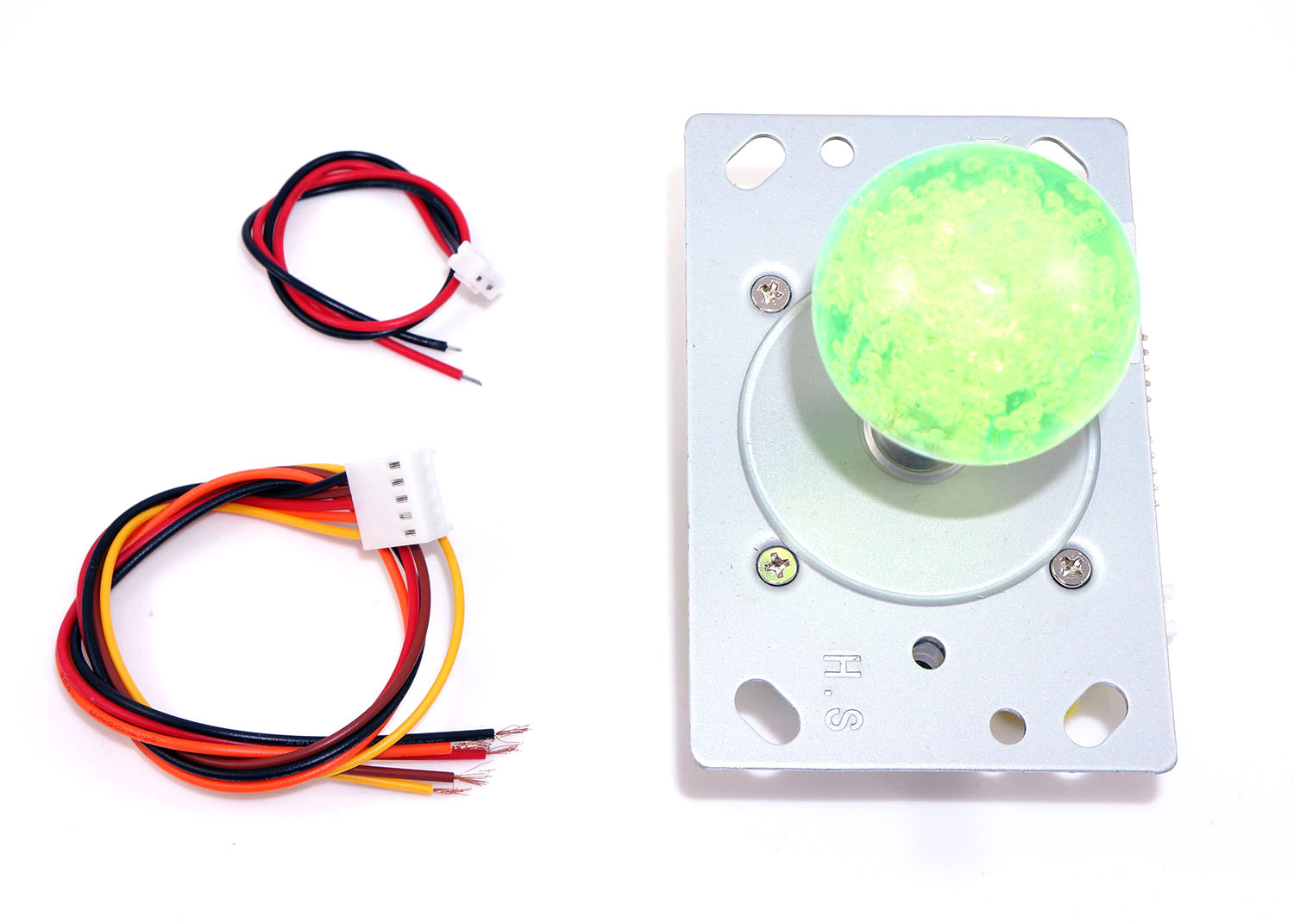 LED Joystick 2-4-8-way with Green LED Ball Top