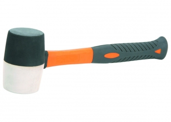 1lb fiberglass handle rubber mallet