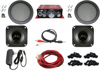 Complete Audio Kit for Arcade Game, MAME Cabinet, or Virtual Pinball Machine