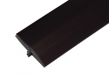 1-1/4 Inch Black T-Molding