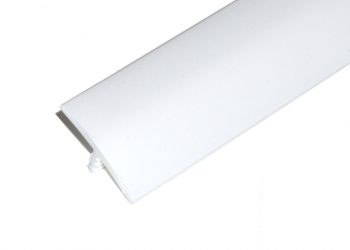 1 Inch White T-Molding