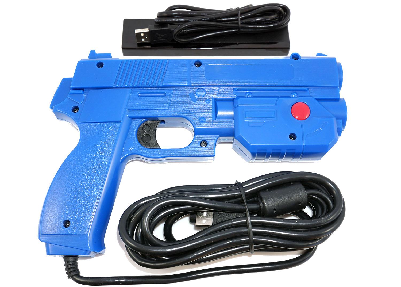Aimtrak Arcade Light Gun With Recoil Blue
