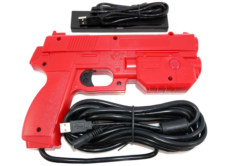 Aimtrak Arcade Light Gun With Recoil Red