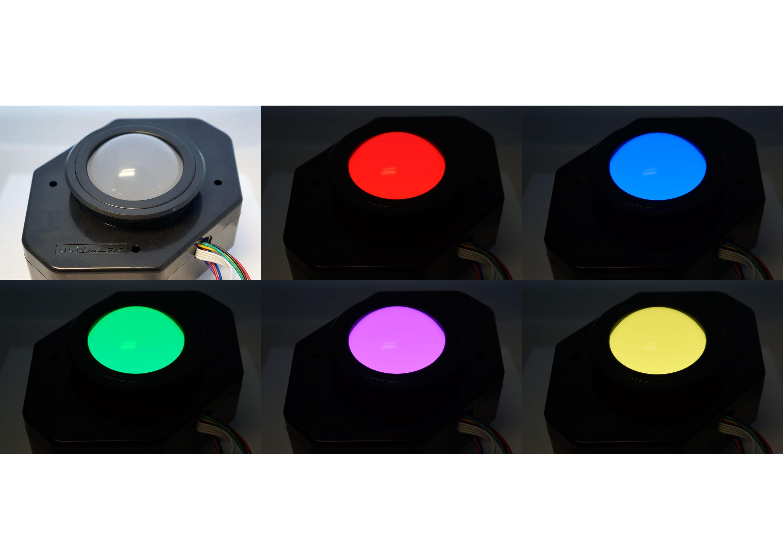 Pearl Ultimarc U-Trak Trackball with RGB LED Mod (Discontinued)